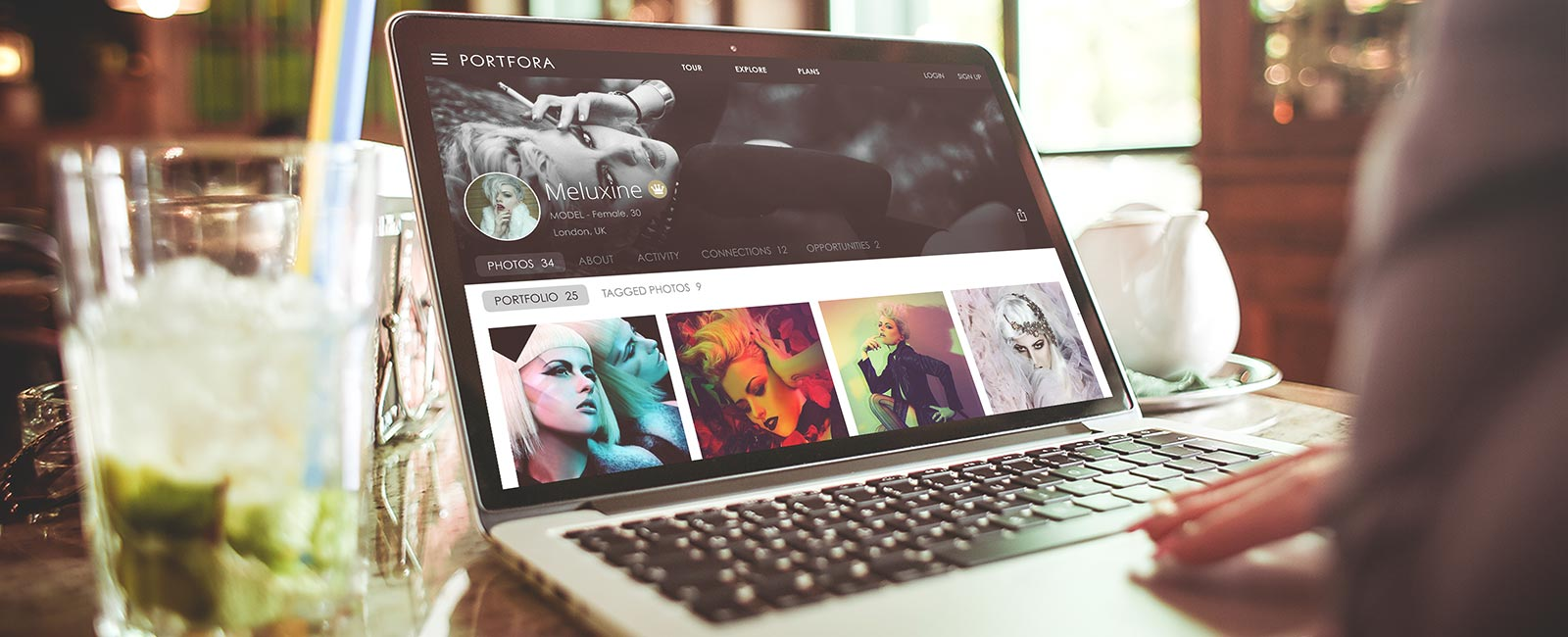 Online portfolio hosting for photographers, models, fashion designers, MUAs, stylists